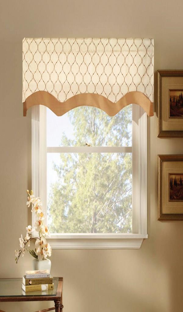 Cũng tương tự như mẫu rèm cửa cho phòng bếp phía trên, mẫu rèm hình chiếc ô sẽ giúp căn phòng rộng hơn, nó chủ yếu làm điểm nhấn thay vì phải kéo ra kéo lại như những mẫu rèm cửa dài khác