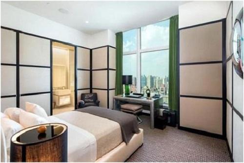 Phương án thiết kế với vách ngăn nhôm kính cho phòng ngủ